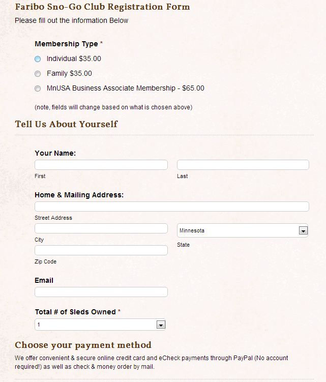 The Best Club Website Solution Features and Demos ClubHostingorg – Club Membership Form Template Word